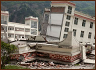 image shows a destruction from an Earthquake.
