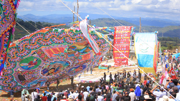 The town of Santiago Sacatepéquez, Guatemala, is world famous for their 100-year old Festival of Giant Kites. &nbsp;<span class='italic'>Photo Credit:&nbsp;Luis Llovera Ramírez</span>