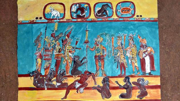 Bonampak viviendo el tiempo maya for El mural de bonampak