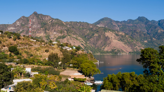 View of San Pedro La Laguna, one of several lakeshore towns.&nbsp;<span class='italic'>Photo Credit:&nbsp;Istock: Veo el Mundo</span>