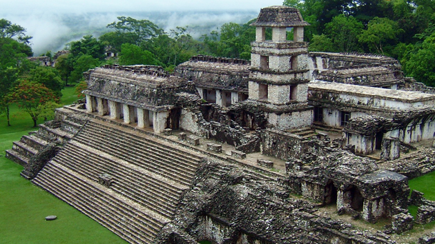 The Palace is one of the largest buildings in Palenque. A combination of platforms, stairways, and houses, it is one of the best-preserved palace structures of the ancient Maya.&nbsp;<span class='italic'>Photo Credit:&nbsp;Isabel Hawkins</span>